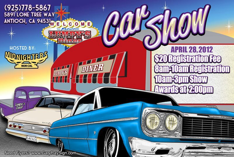 Lumpys Diner Car Show In Antioch