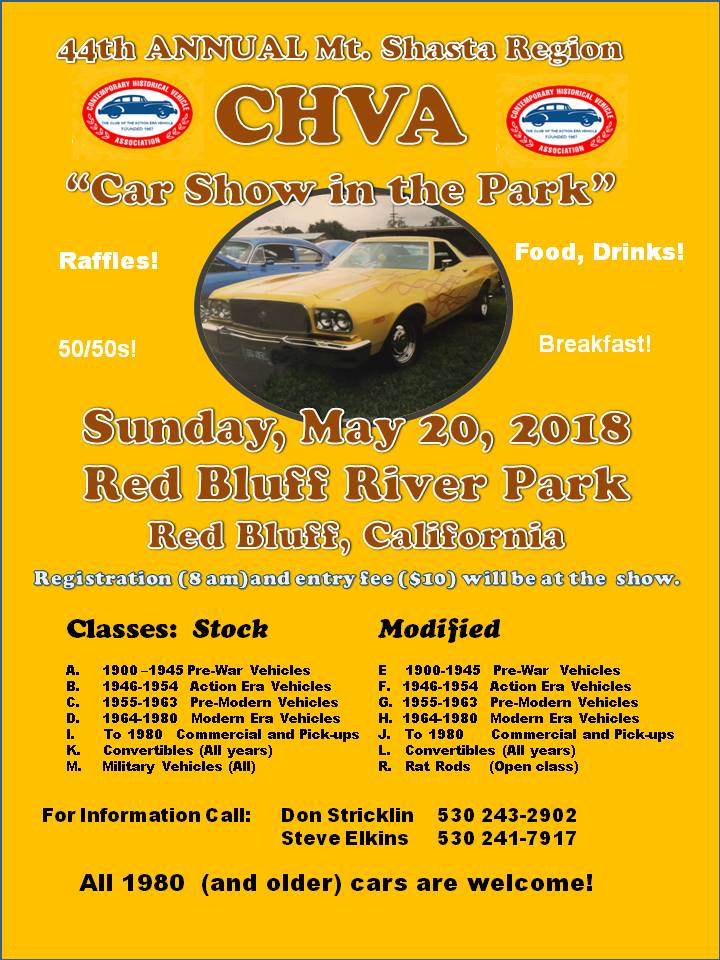 Red Bluff Car Show in the Park