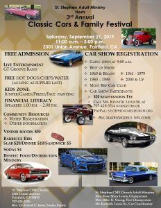 3rd Annual Classic Cars & Family Festival