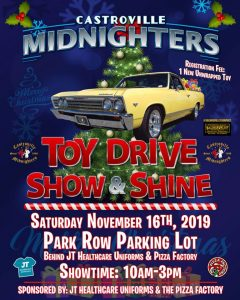 Castroville Midnighters Toy Drive Show & Shine