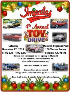 The Impala's 4th Annual Toy Drive