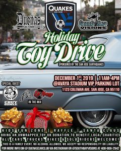 Quakes Toy Drive
