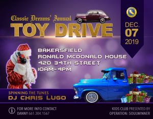 Classic Dreams Annual Toy Drive