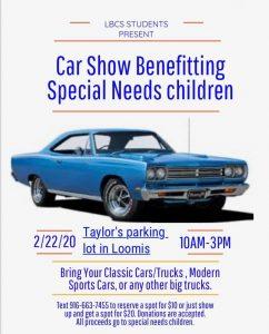 Car Show Benefitting Special Needs Children