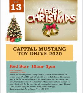 Capital Mustang Toy Drive
