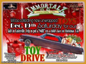 Immortalz Toy Drive