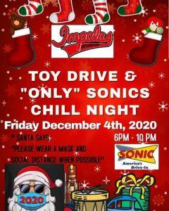 Impalas Toy Drive & Chill Night