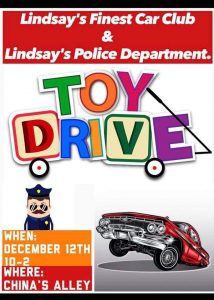 Lindsay's Finest Car Club Toy Drive