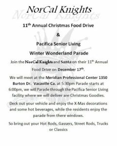 NorCal Knights 11th Annual Food Drive