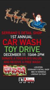 Serrano's Detail Shop's 1st Annual Car Wash & Toy Drive
