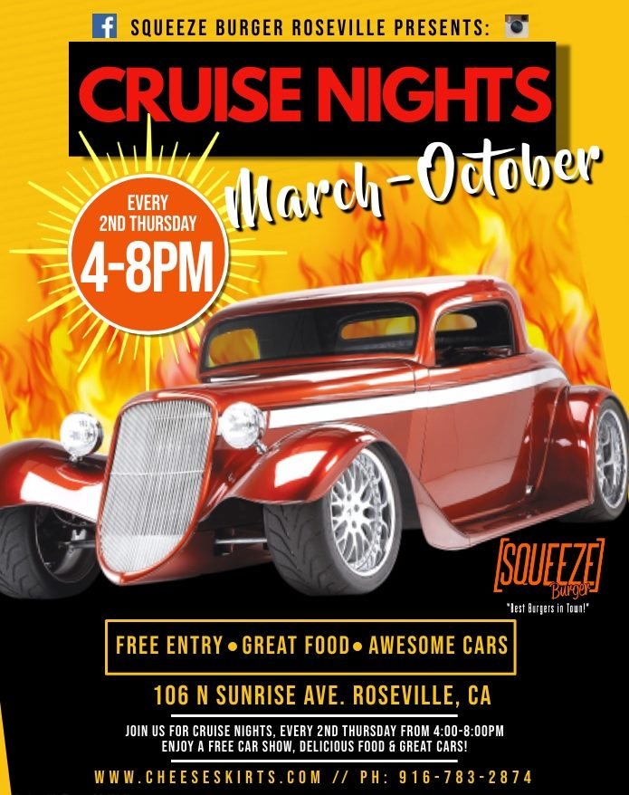 Squeeze Burgers Cruise Nights