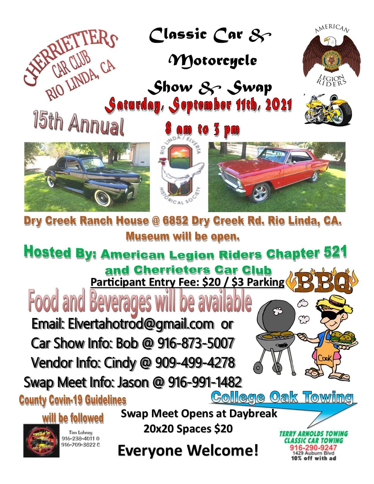 Cherrietters Classic Car & Motorcycle Show & Swap