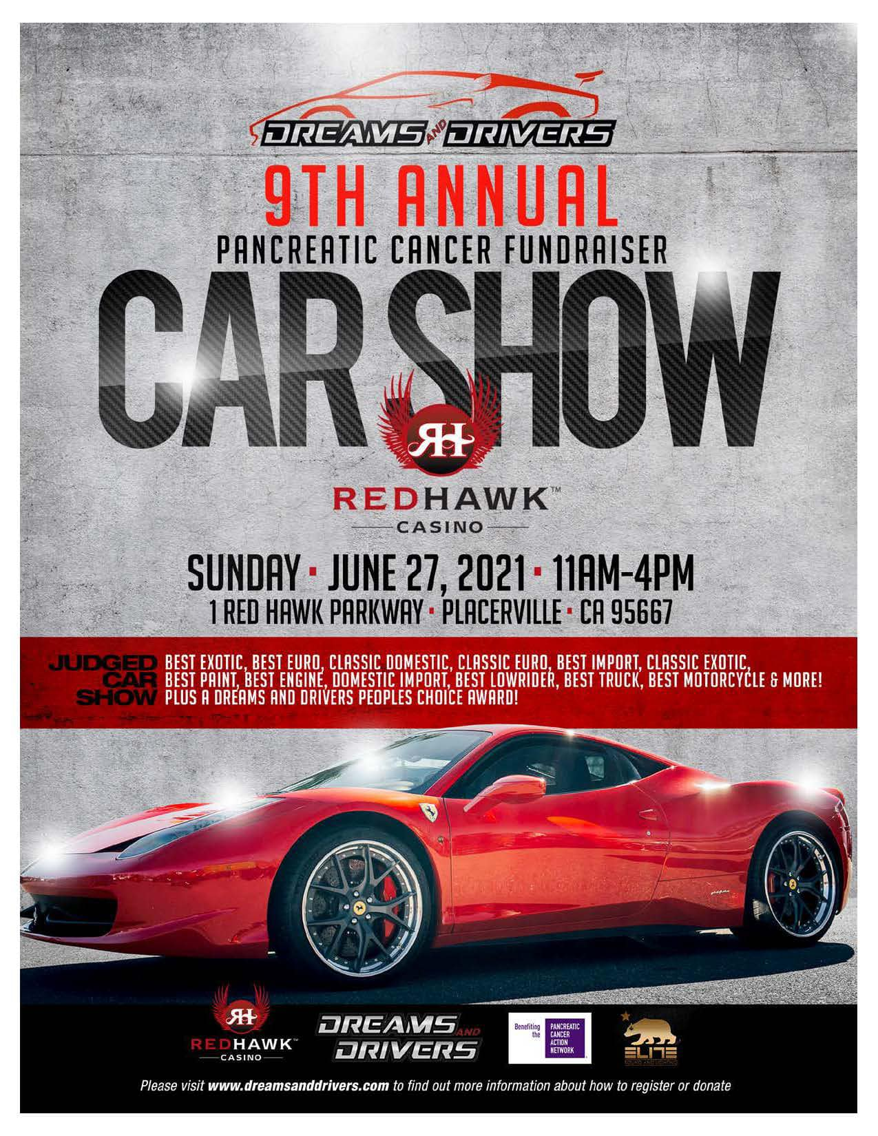 Dreams and Drivers Pancreatic Cancer Fundraiser Car Show