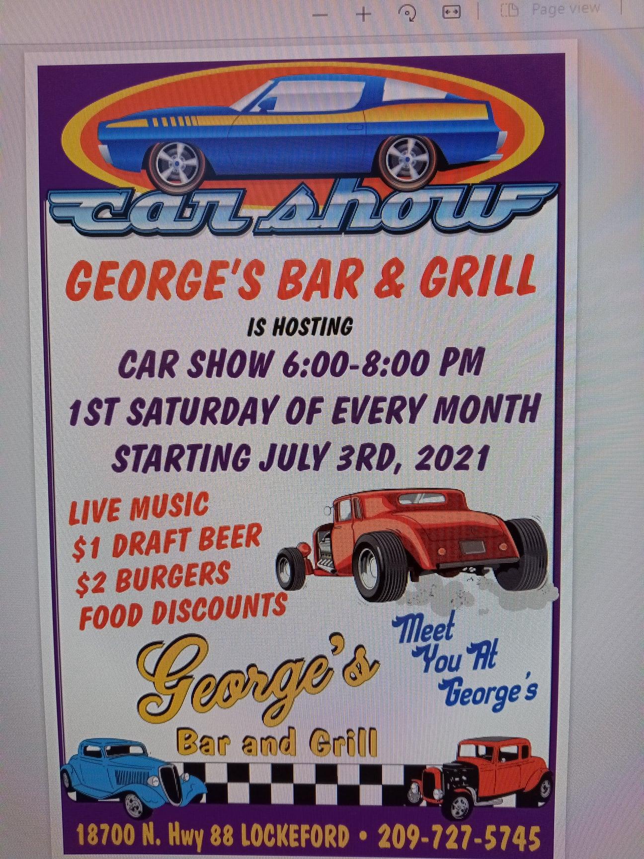 George's Bar & Grill Car Show