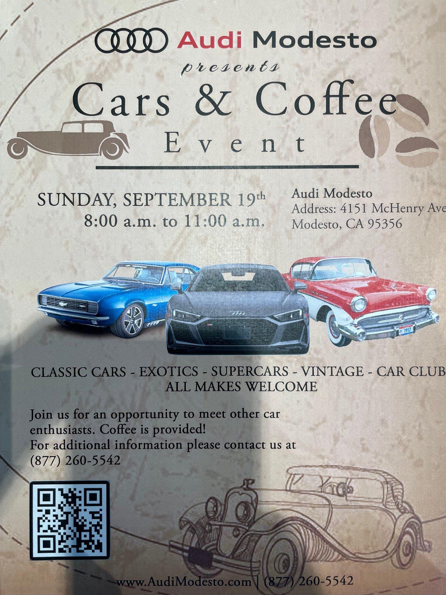 Audi Modesto Cars & Coffee