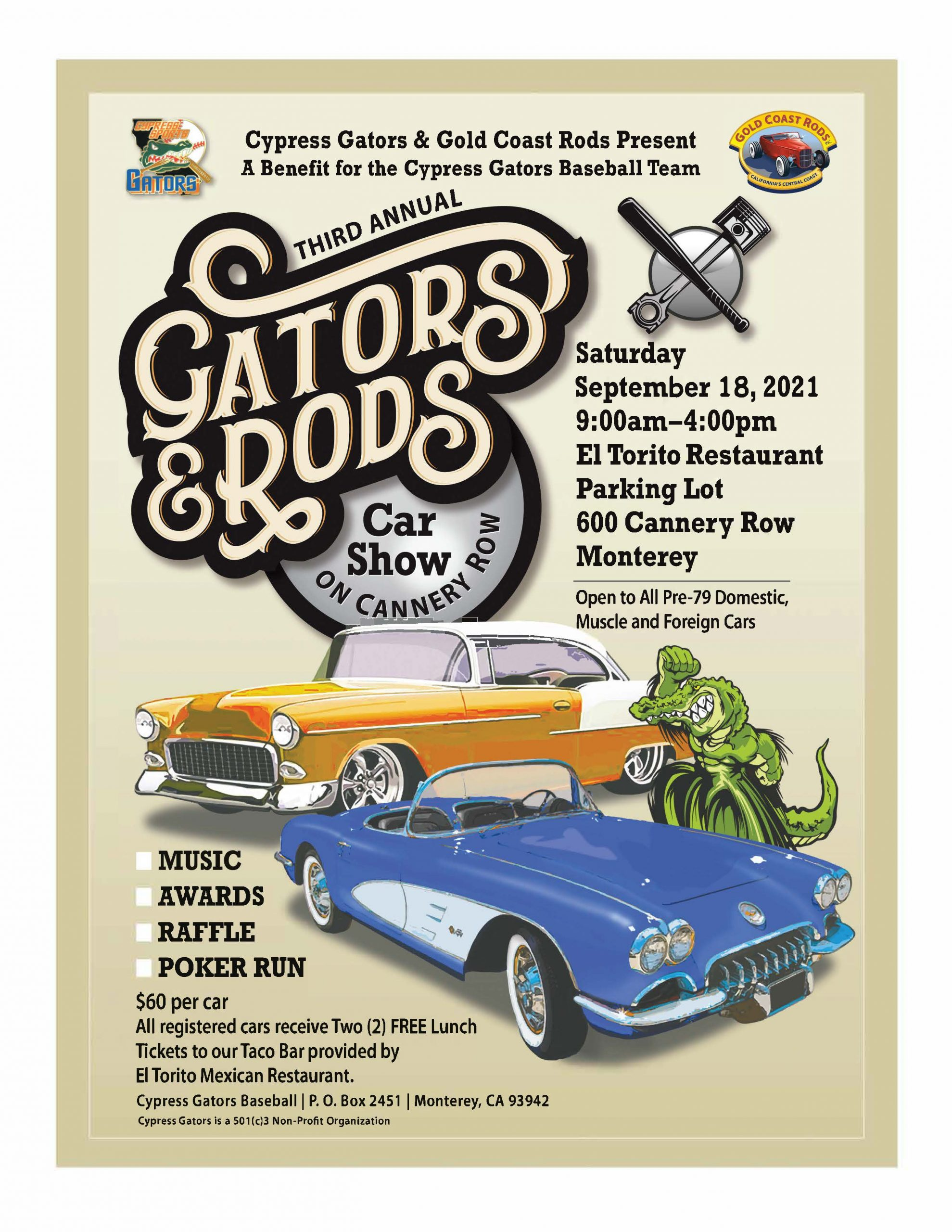 Gators & Rods Car Show