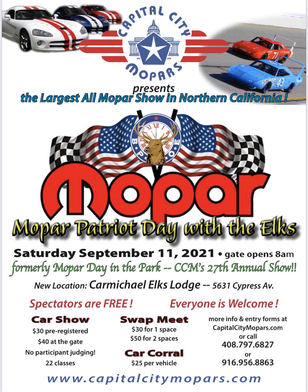 Mopar Patriot Day with the Elks