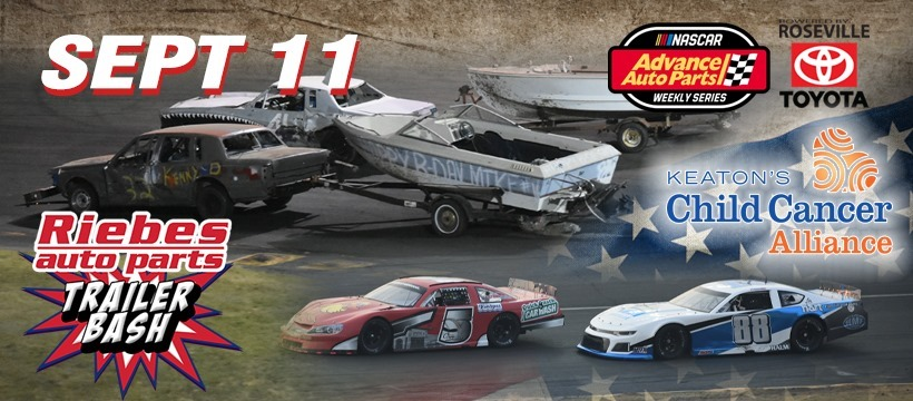 NASCAR Racing and Riebes Auto Parts Trailer Bash