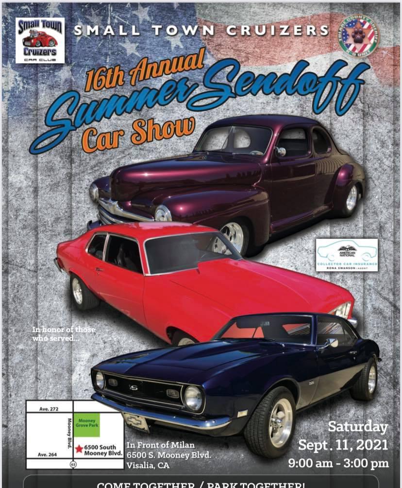 Small Town Cruizers Summer Sendoff Car Show